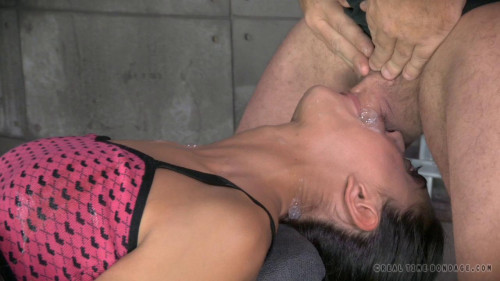 RTB - Lyla tied, vibrated to agonorgasmos and deepthroated!