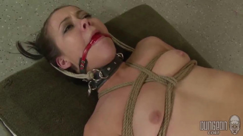 Tight restraint bondage, strappado and torment for sexually excited bare hotty Full HD 1080p