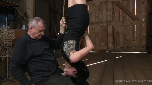 Constricted restraint bondage, strappado and castigation for lustful slavegirl part FIRST Full HD 1080p