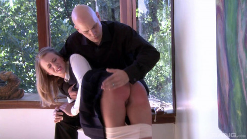 Bailey Brooke Gets A Nice Spanking Followed By A Bit Of Paddling - Full HD 1080p