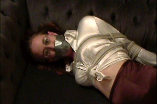 Inxesse - Jade in Secretary Clothes and High Heels Hogtied BDSM Latex