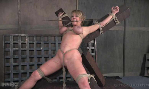 Belt Bondage For Big Tits Slut