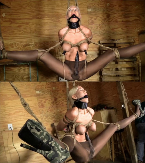 Tight bondage, strappado and torture for hot model
