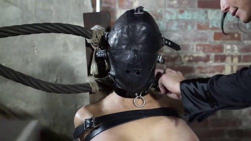 Bondage, spanking and soreness for exposed blond part 2