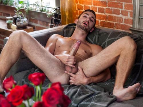 Gay Twink Preston Cole jerks off his massive cock Gay Solo