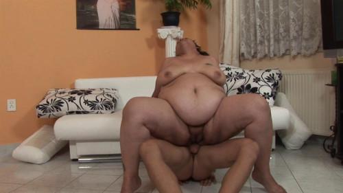 Fat bimbo fucks with handsome stud