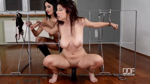 Super restraint bondage, domination and suffering for pretty slavegirl