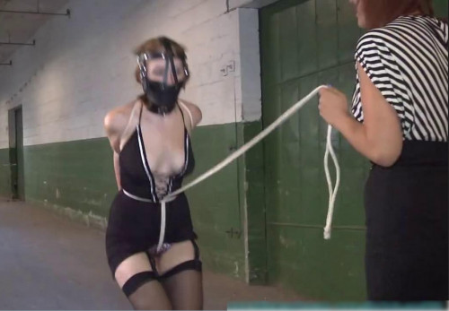 Super bondage and torture for young slavegirl with naked tits