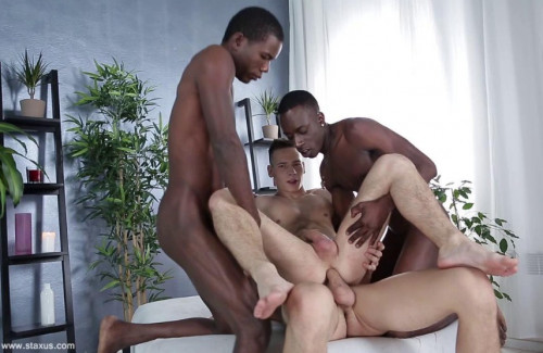 Black & White Orgy With Double Penetration