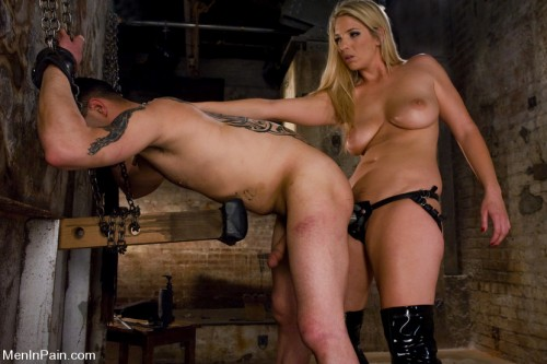 Fresh Blonde Dominatrix Brings the Pain Femdom and Strapon