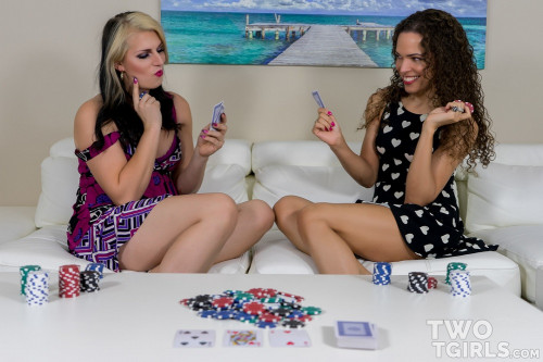 A Game of Strip Poker Transsexual