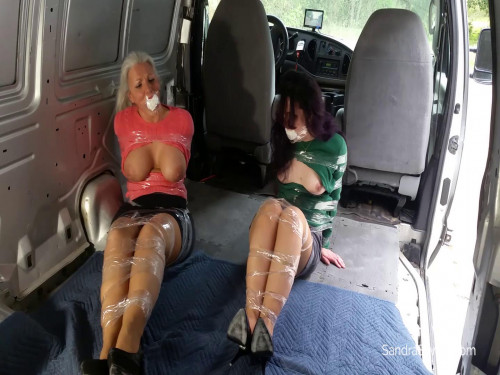 Kidnapped In a Van Barebreasted - Sandra Silvers - Full HD 1080p