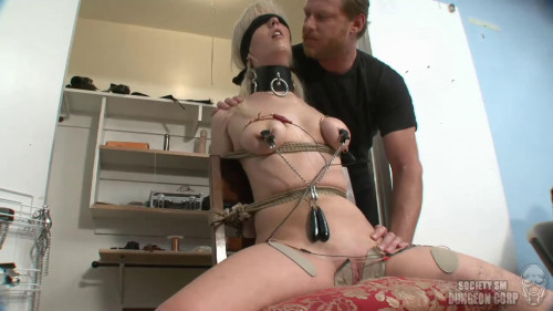 Tight bondage, spanking and torture for horny blonde part 1 HD 1080