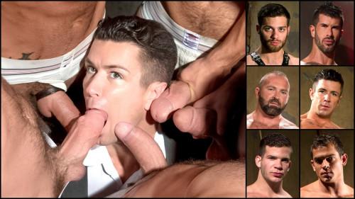 Hole 1, scene 05: Tommy Defendi, Adam Killian, Josh West, Trenton Ducati, Angel Rock, Luke Milan