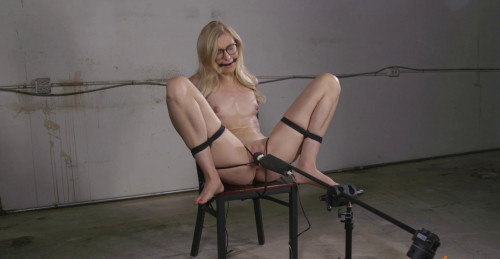 Sexy Blonde Librarian Bound And Cumming