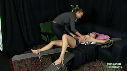 HungarianTicklishGirls - Candy tickled on the andrews cross