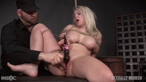 Petite blonde loves bondage BDSM