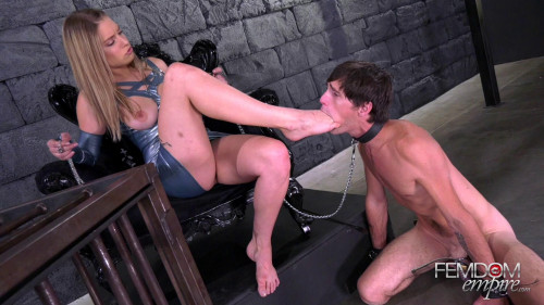 Beg For My Feet Femdom and Strapon
