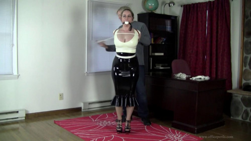 Pepper Sterling - Tight Latex Armbinder Hogtie
