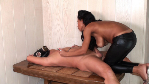 Nipple Play Femdom and Strapon