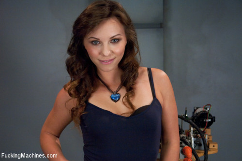 Russian Gold: Alysa and Her Machine Defying Pussy and Ass Sex Machines