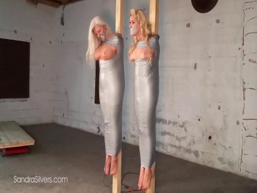 Two MOTHER ID LIKE TO FUCK Mummification! Sandra & Whitney Mummified Off the Ground!