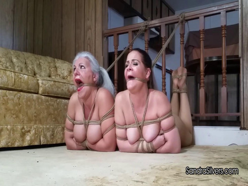 Sandra Silvers & Whitney Morgan - Hogtied Pantyhose Captives