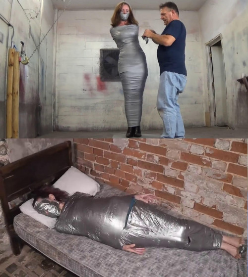 Tight bondage,strappado and mummification for hot angel