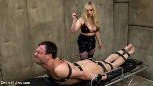 Prostate milk fisting with multiple orgasms! Femdom and Strapon