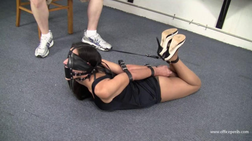Summer Peters - Leather thong wrist and ankle bondage