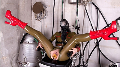 The Ultimate in Rubber Femdom Bondage - Part 2