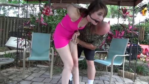 HunterSlair - Luci Lovett - Her first Hunter strappado BDSM
