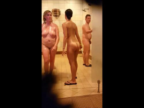 German Sauna scene 3 Hidden camera, voyeurism