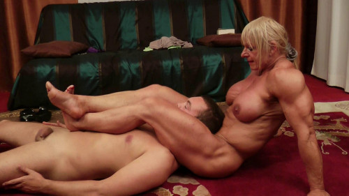 The Cleaning Man - Starring Maryse Manios Female Muscle