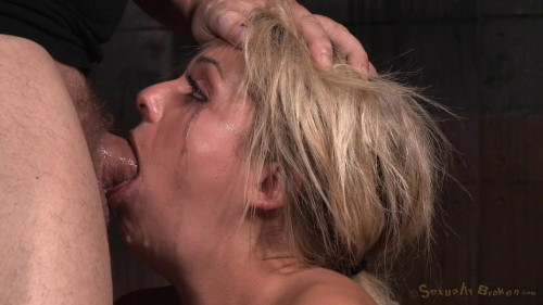 Madelyn Monroe restrained on vibrator and facefucked without mercy