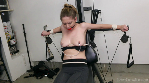 Chrissy Caught In Self Bondage BDSM