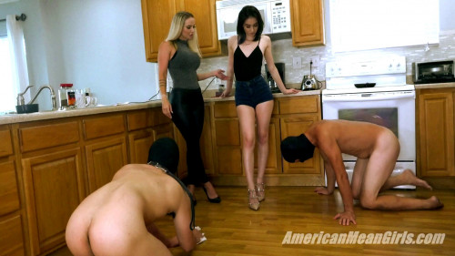Grace Meets Slaves Femdom and Strapon