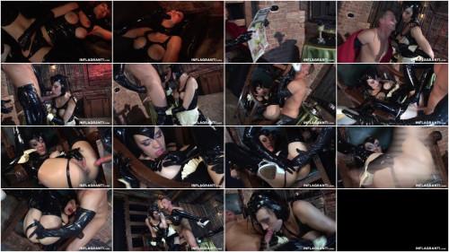 Black Lady Latex Slave BDSM Latex