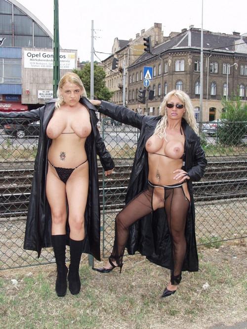 Hot Euro Big Tits flashing and fuck Public sex