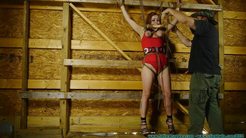 Barnyard Captive Riley Jane Spreadagle To the Wall