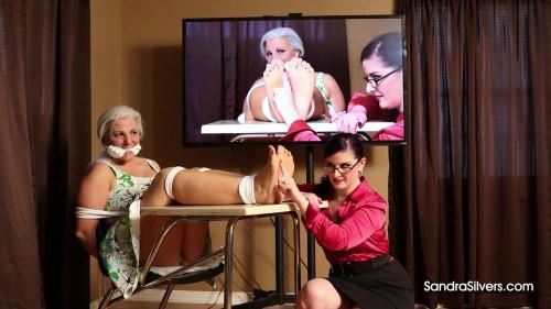 Sandra Silvers and Caroline Pierce - Foot Tickling