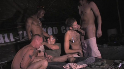 Creampie Fuck & Orgies With New Recruits Gay Movie
