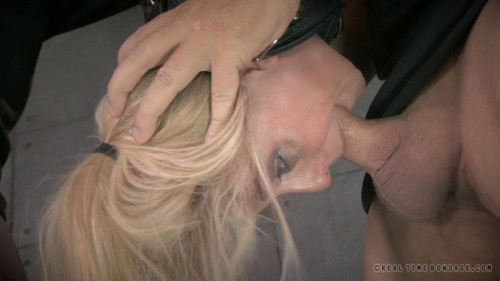 RTB - Blonde orgasmblasted on sybian and does inverted deepthroat!