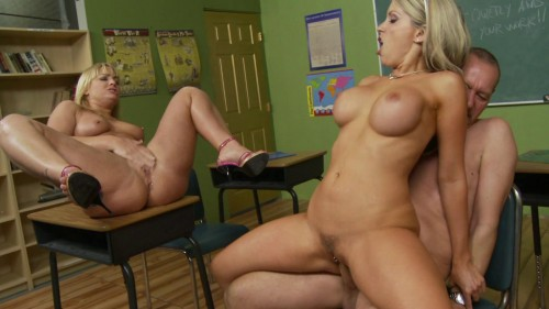 Courtney and her blonde friend crave for cameraman's dick
