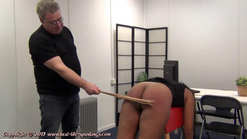 Emily gets soundly birched and caned for failing a test
