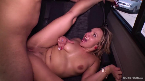 Slutty German blondie squirts in the backseat of the van during hard bang Amateur Porn
