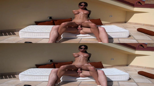 On holiday with hot brunette 3D stereo Porn