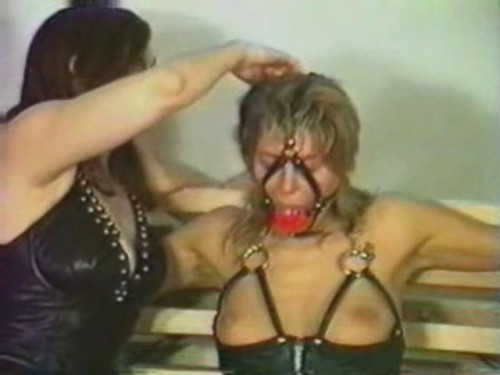 Two sexy hot ladies are bound