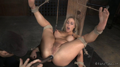 Sexy Blonde Angel Allwood Punished & Assfucked