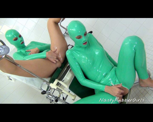 Rubber Clinic, Pussy Licking, Finger, Dildo Treatment Part One